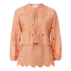 Blush Broderie Blouse