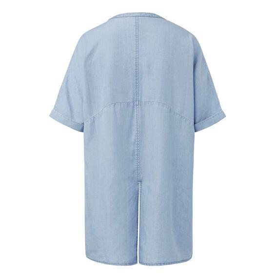 Split Back Long Line Shirt