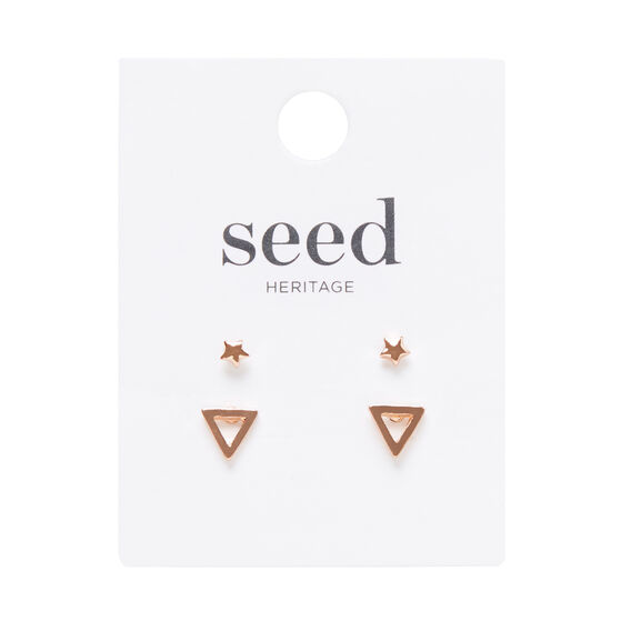 Triangle and Star Stud Set