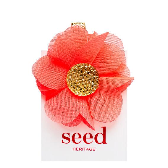Jewel Center Flower Clip