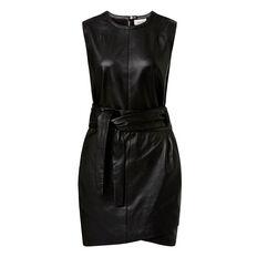 Leather Wrap Dress