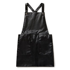Faux Leather Pinafore
