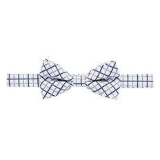 Blue Grid Bow Tie