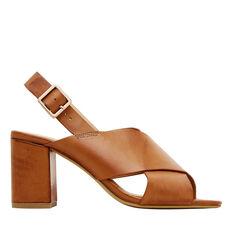 Poppy Crossover Block Heel