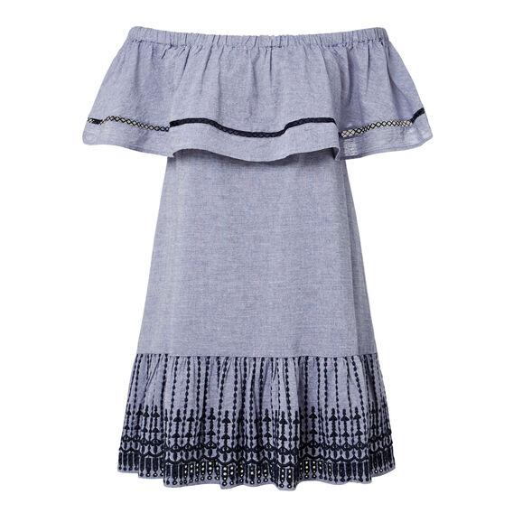 Off Shoulder Frill Dress