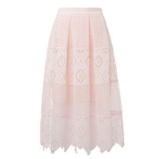 Tier Broderie Skirt