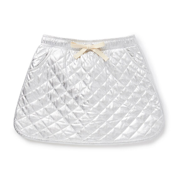 Quilted Metallic Skirt