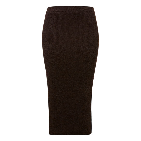 Knitted Chocolate Skirt