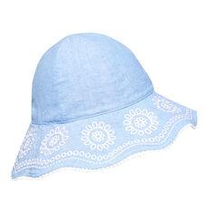 Scallop Trim Sun Hat