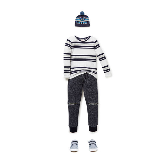 Stripe Knee Trackie