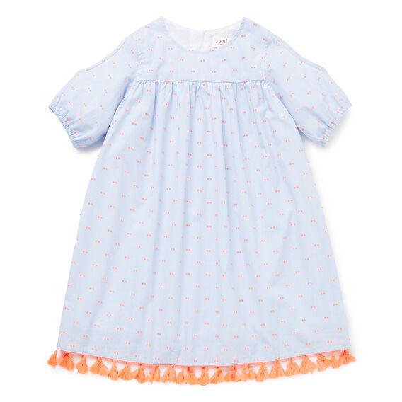 Tassle Off-Shoulder Dress