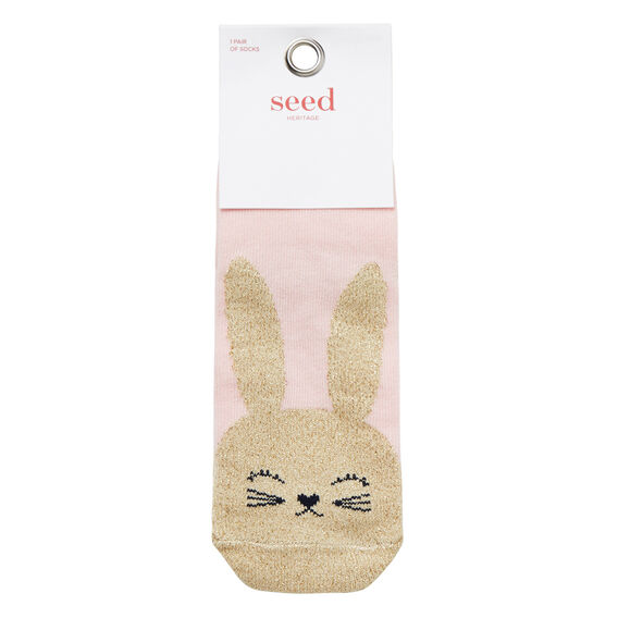 Glitter Bunny Socks