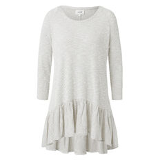 Mono Frill Long Sleeve Top