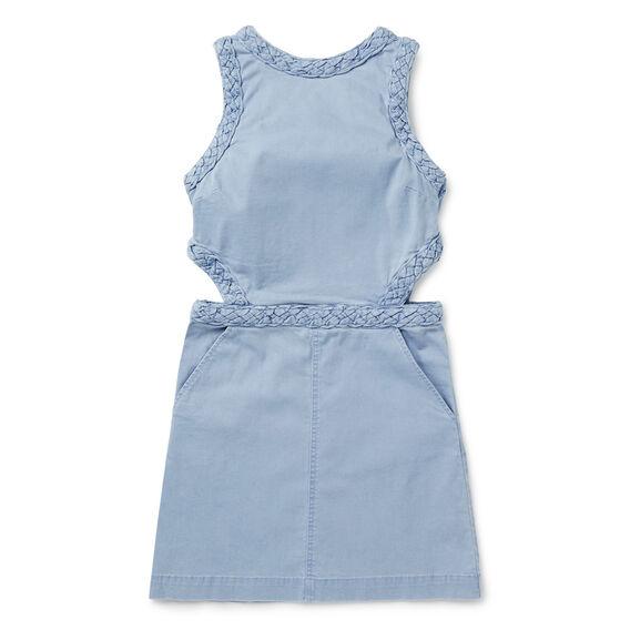 Braided Denim Dress