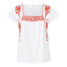 Embroidered Sleeve Tee
