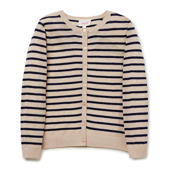 Lurex Stripe Cardigan