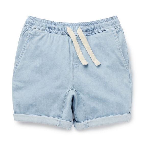Chambray Gusset Short