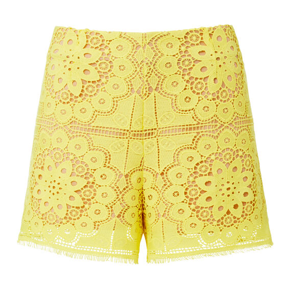High Waisted Lace Short