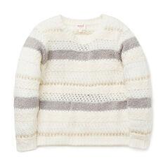 Fluffy Lurex Stripe Sweater