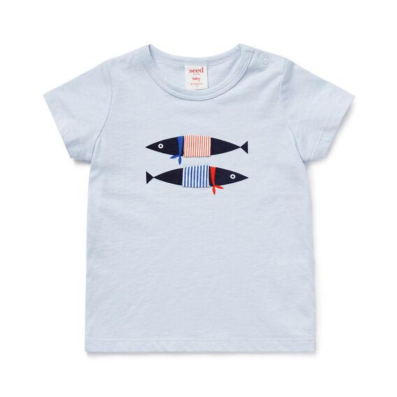 Fish Print Tee