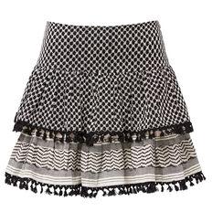 Pattern Tassel Skirt