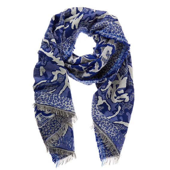 Abstract Jacquard Scarf