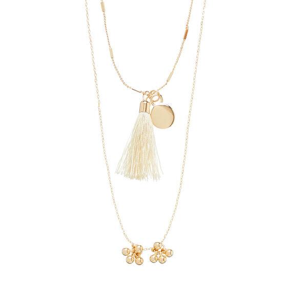 Tassel Charm Necklace