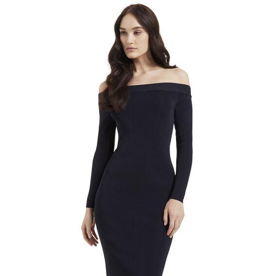 Off Shoulder Crepe Dress