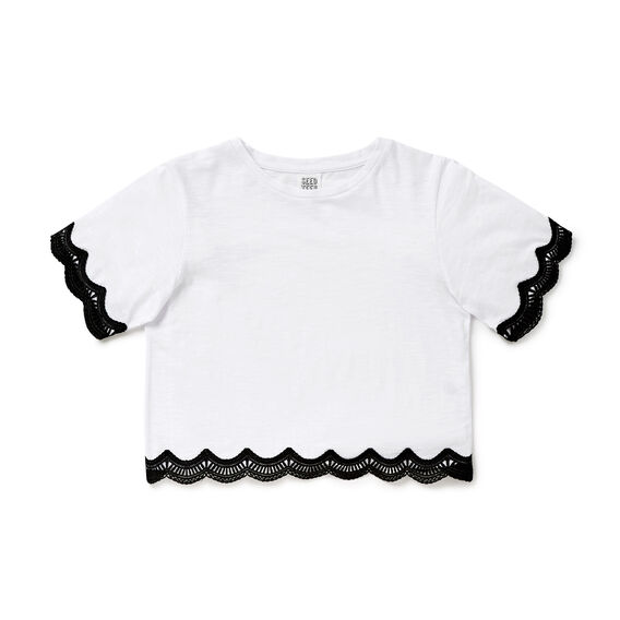 Lace Trim Tee