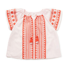 Folk Embroidered Top