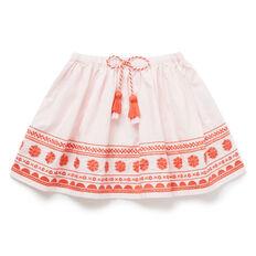 Folk Embroidered Skirt