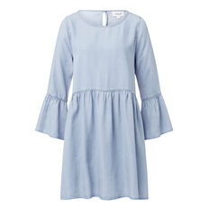 Tencel Frill Sleeve Dress