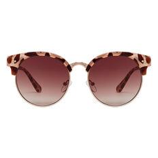 Tort Half Rim Sunglasses