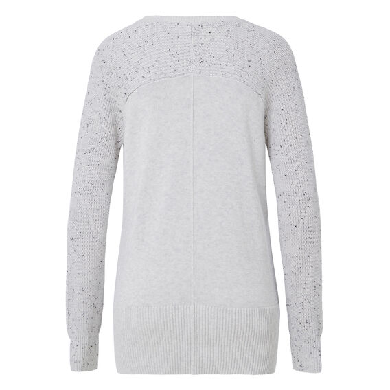 Speckle Splice Sweater