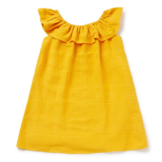 Ruffle Off-Shoulder Dress