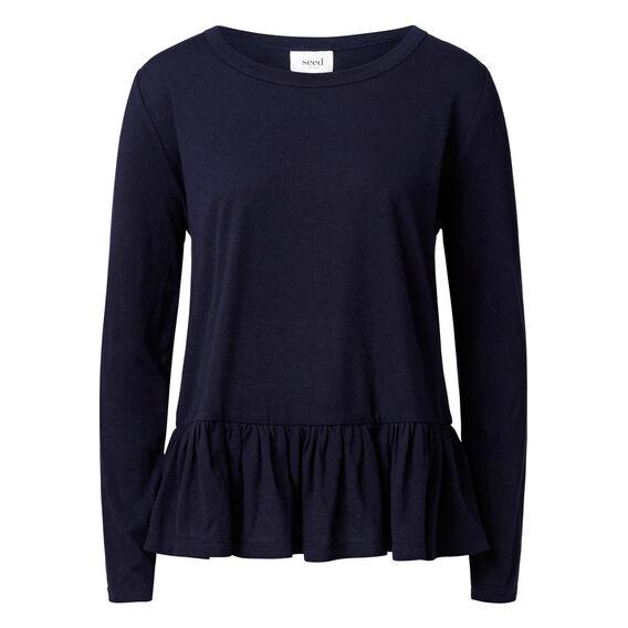 Frill peplum Sweater