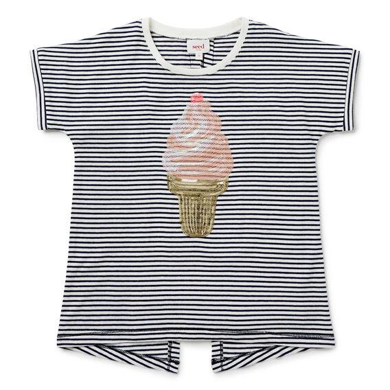 Sequin Ice-Cream Tee