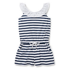 Broderie Stripe Playsuit