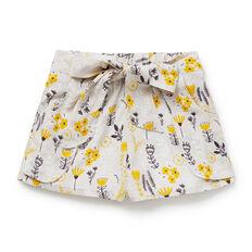 Floral Print Tie Shorts