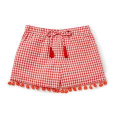 Gingham Pom Pom Shorts