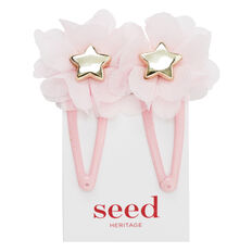 Pink Tulle Flower Star Snaps