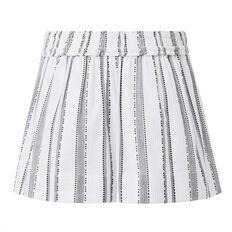 Stripe Cotton Short