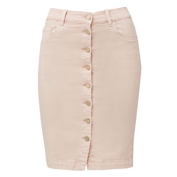 Gold Button Through Skirt