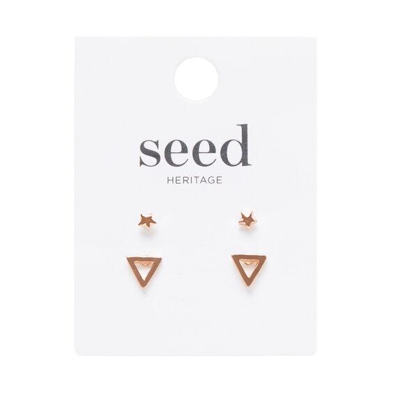 Triangle and Star Stud Set
