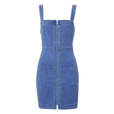 Denim Zip Up Dress