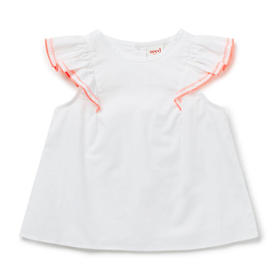 Pop Trim Frill Top
