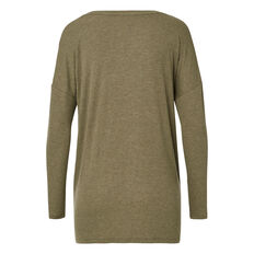 Seam Detail Rib Long Sleeve Tee