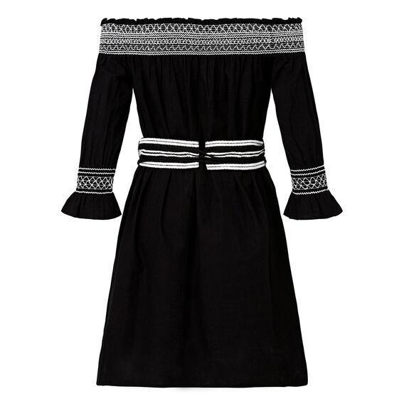 Belted Off Shoulder Dress