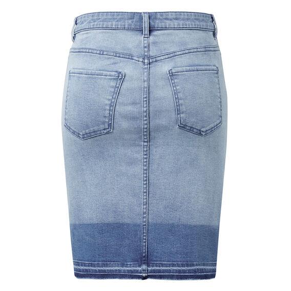 Dipped Denim Skirt