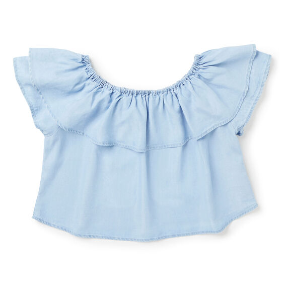 Off-Shoulder Ruffle Top